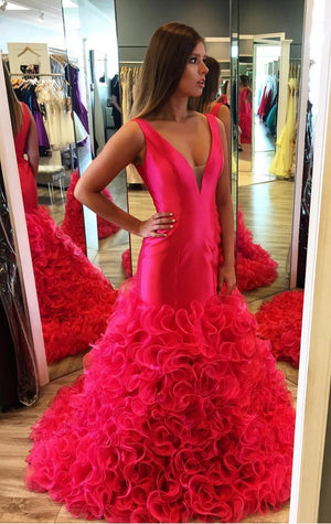 Ruffles Prom Dress New Style Dresses Modest