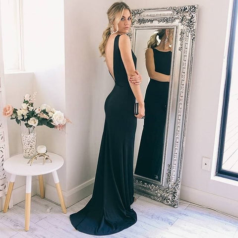 fc8da1b1f57 Long V Back Prom Dresses Sexy Party Dresses Elegant Evening Dresses Formal  Gowns for Women MT20189259 - Dresses Near Me