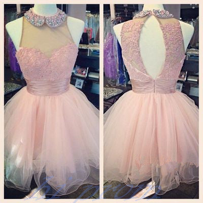 Light Pale Pink Homecoming Dressbaby Pink Prom Gownhot Homecoming