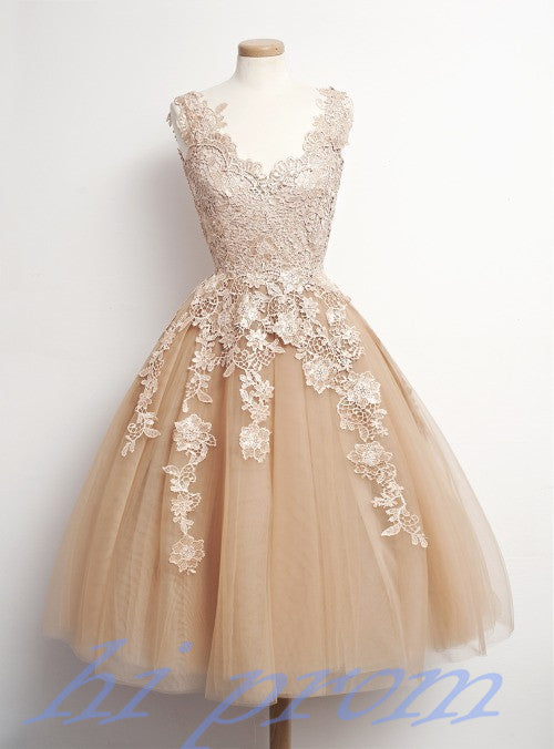 Homecoming Dress,Lace Homecoming Dresses,Knee Length Prom Gown ...
