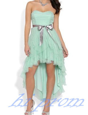 Tulle Homecoming Dresshigh Low Homecoming Dressesmint Homecoming