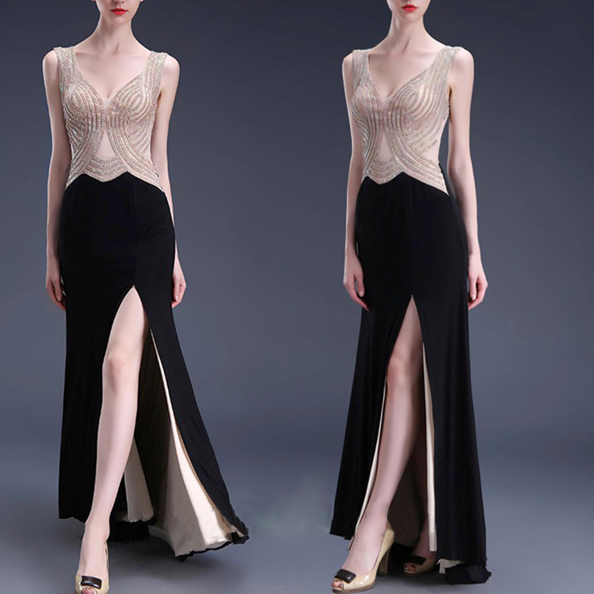 Black Prom Dressesbeaded Evening Gownssexy Formal Dressessparkle