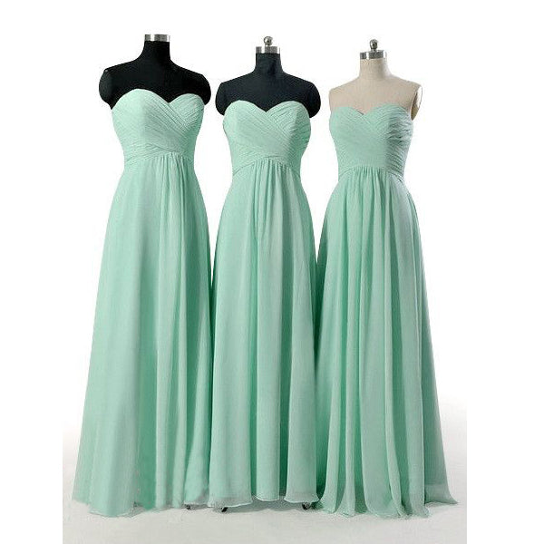 Mint Green Bridesmaid Gownpretty Prom Dresseschiffon Prom Gown