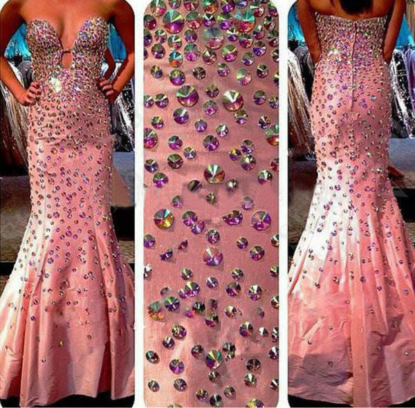 Sexy Prom Dressespink Prom Dresscrystals Prom Gownsparkly Prom