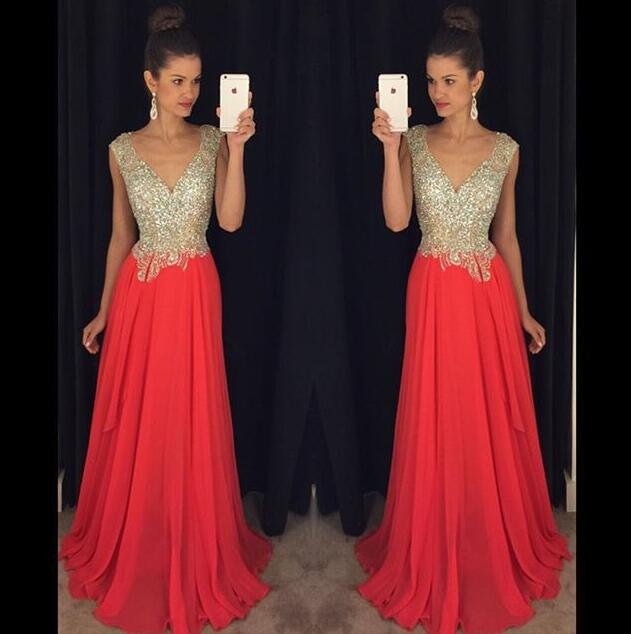 Red Backless Prom Dresses,Red Prom Gowns,Prom Dresses 2018, Party ...