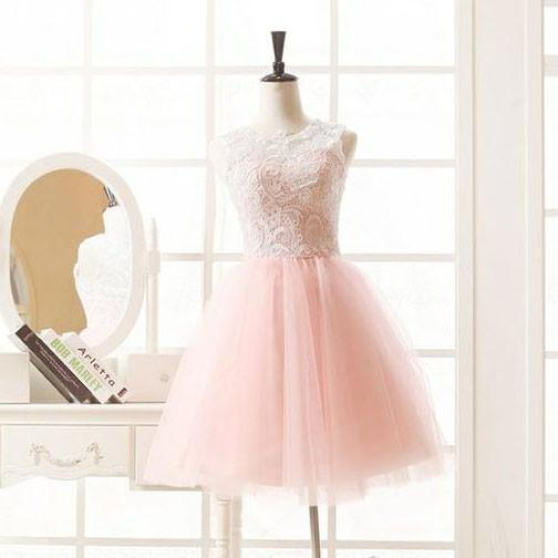 Pink Homecoming Dressshort Tulle Prom Dresseshomecoming Gowns