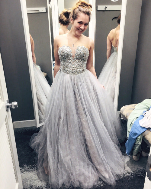 Prom Dresses,Gray Prom Dress,Formal Gown,Prom Dresses,Grey Evening ...