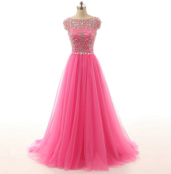 Pink Prom Dressespink Evening Gownssimple Formal Dressesprom