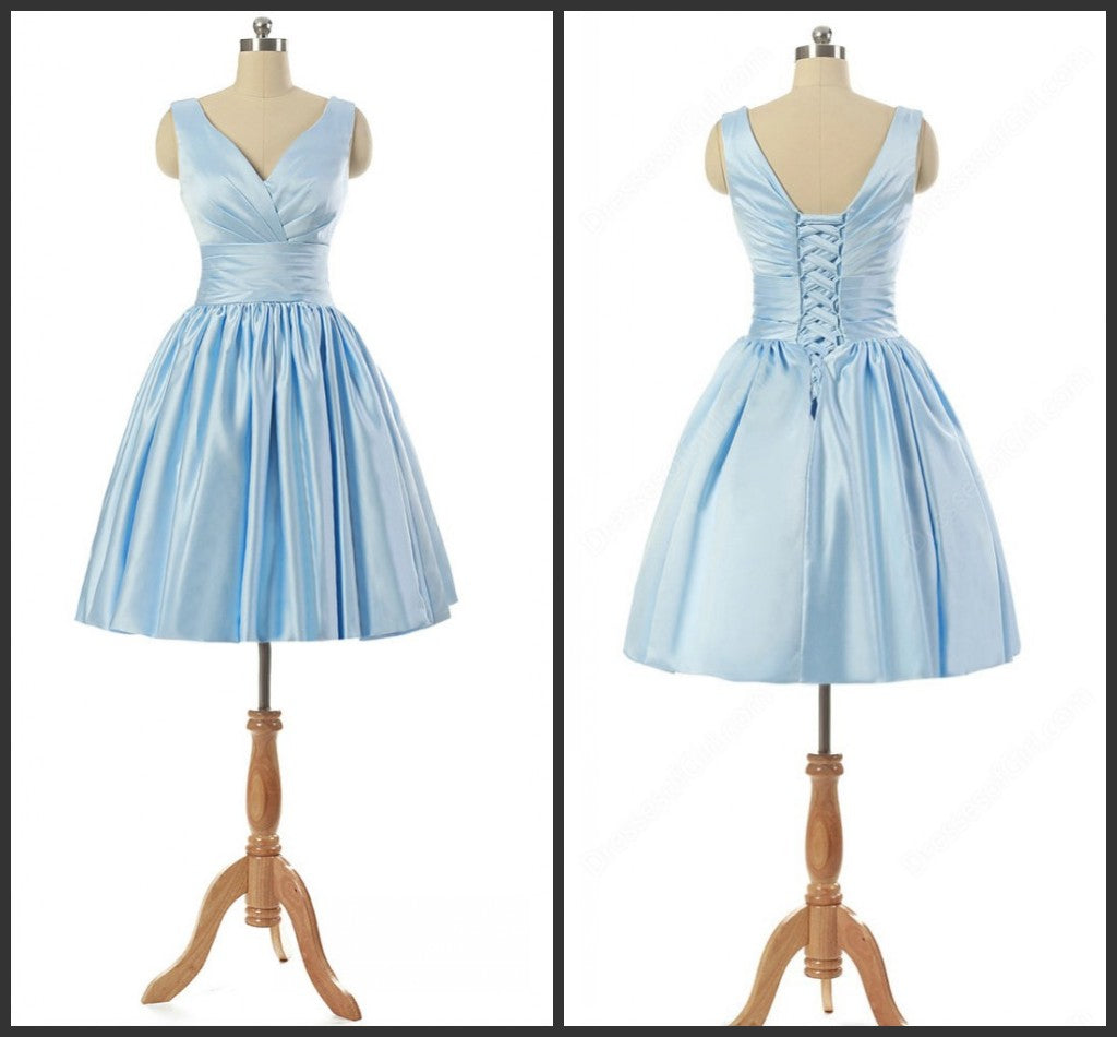 Simple Homecoming Dress,Light Blue Homecoming Dresses,Modest ...