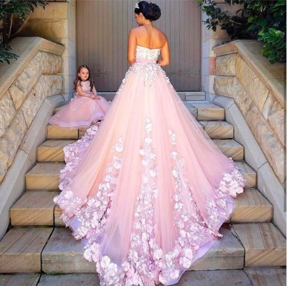 New Arrival Prom Dress,Modest Prom Dress,pink tulle wedding dresses ...