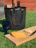 Boater basket Black/Brass