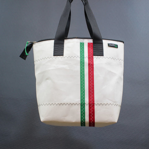 Italian Stripe Zip Top Tote 465