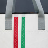 Italian Stripe Zip Top Tote 499