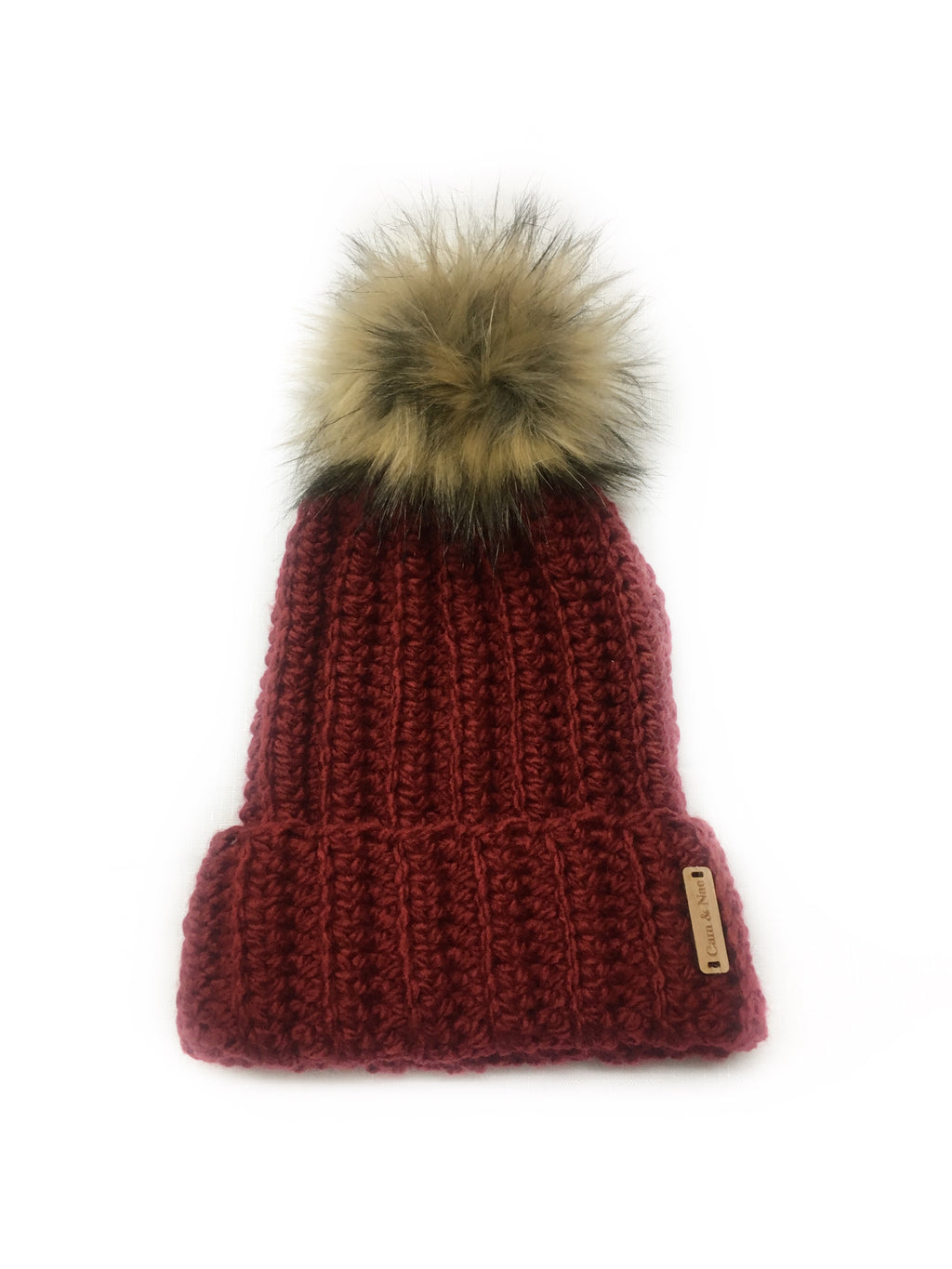 Adult ribbed beanie - Red