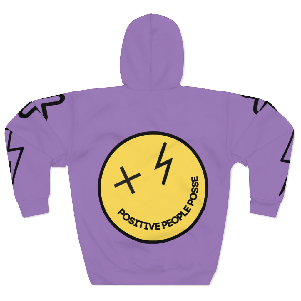 Purp Smiley Face Unisex Pullover Hoodie - +Positive People Posse+
