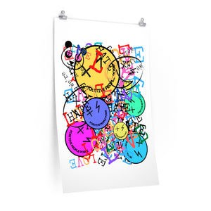 LOVE OVER HATE 24X36 Print - +Positive People Posse+