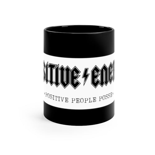 Black mug 11oz - +Positive People Posse+