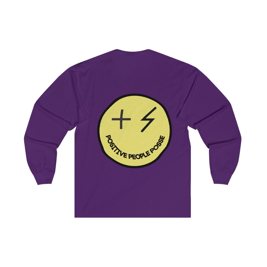 Posse Warped Smile Long Sleeve Tee (Unisex ) - +Positive People Posse+