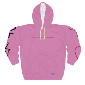 Rose Peace, Love & Positive Energy Unisex Pullover Hoodie