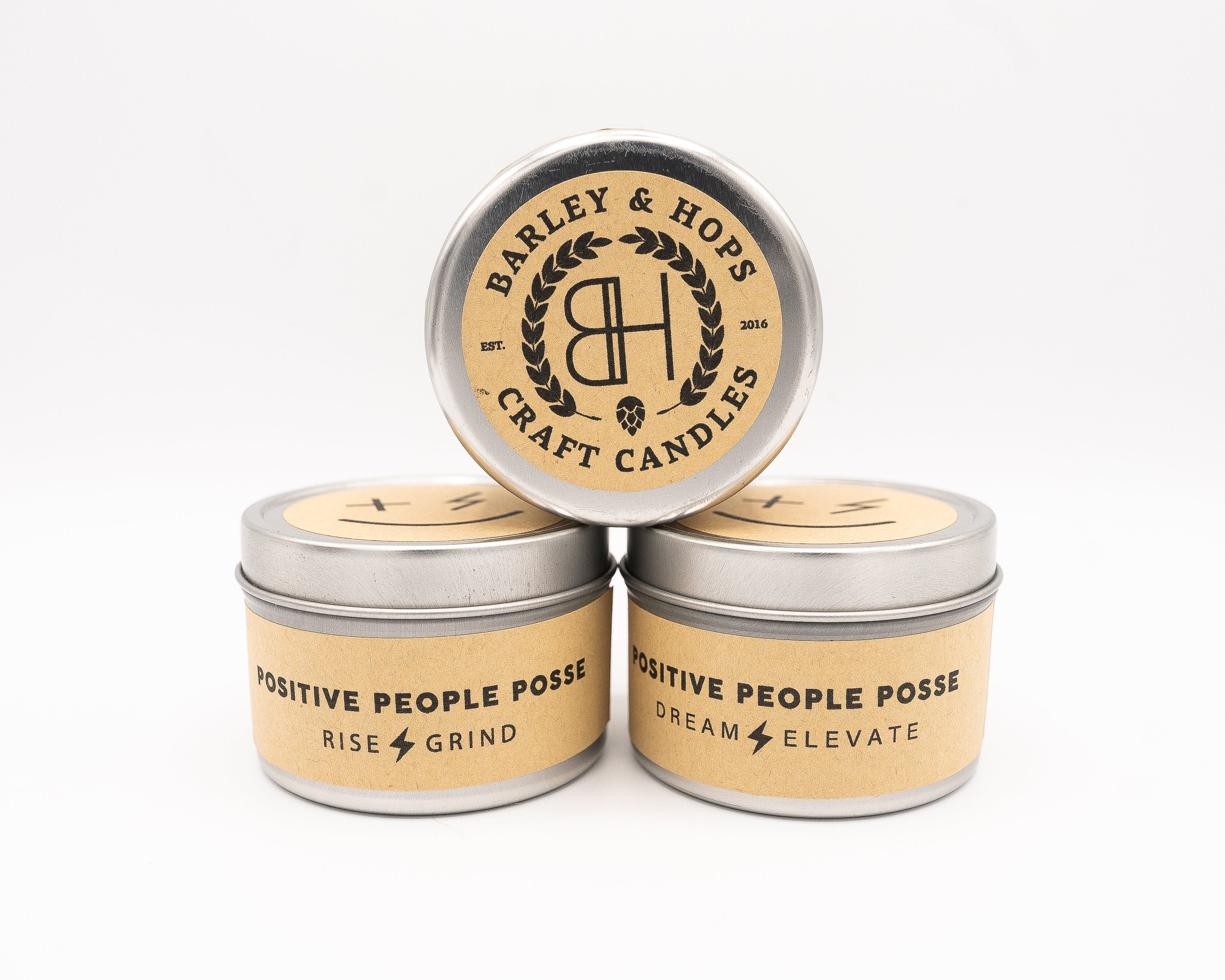 """Create & Cultive"" 20 hour 4 OZ Candle - +Positive People Posse+"