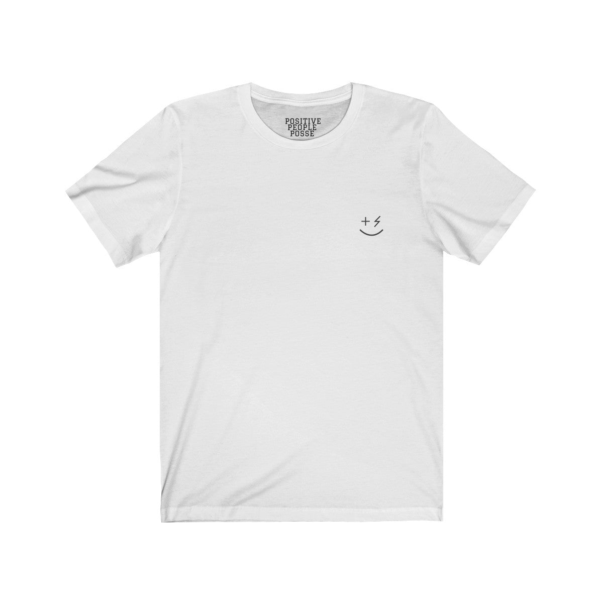 Simple Smiley Unisex Jersey Short Sleeve Tee - +Positive People Posse+