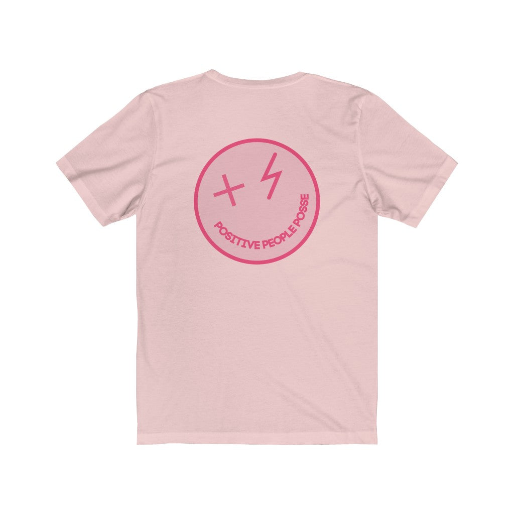 Mr. Nice Guy Pink Unisex Front to Back Short Sleeve Tee - +Positive People Posse+