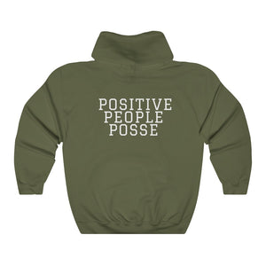 Peace, Love & Positive Energy Unisex Heavy Blend™ Hooded Sweatshirt - +Positive People Posse+
