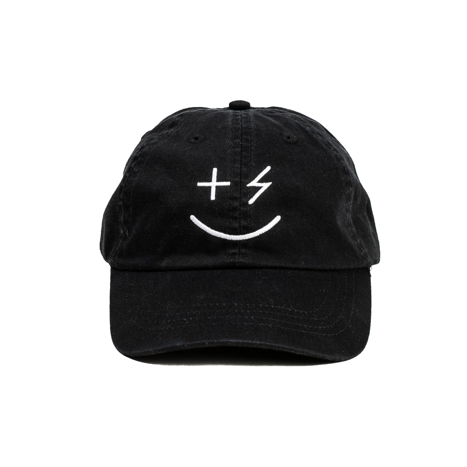 PPP Smiley Cap- Black - +Positive People Posse+