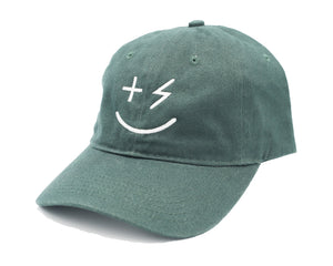 PPP Smiley Cap- Hunter Green - +Positive People Posse+