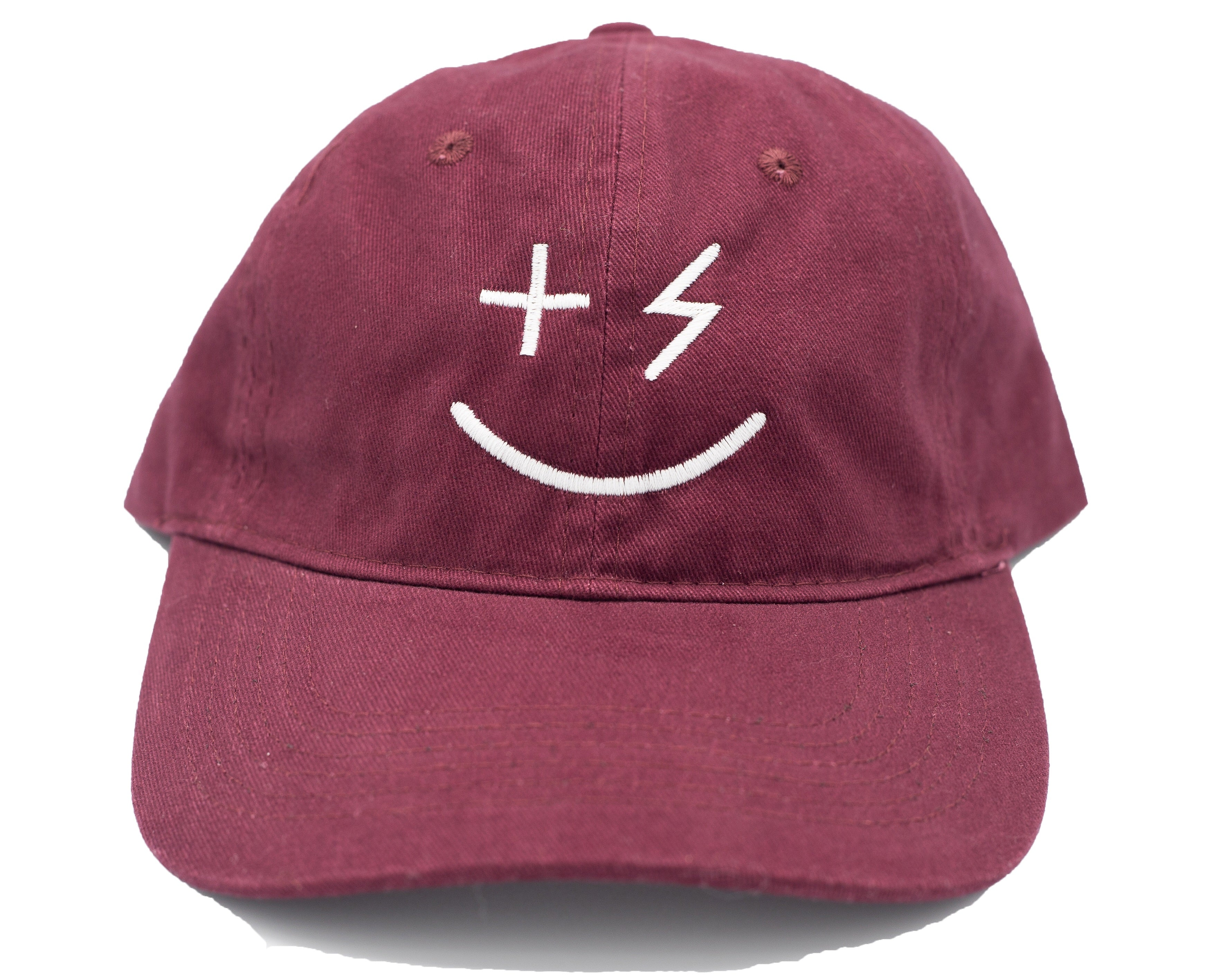 PPP Smiley Cap- Maroon - +Positive People Posse+