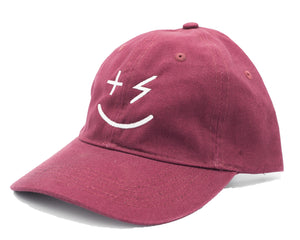 PPP Smiley Cap- Maroon