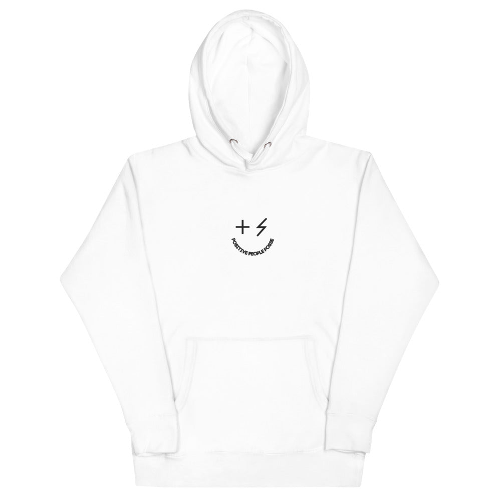 Basic Embroidered Essential Smiley Unisex Hoodie - +Positive People Posse+