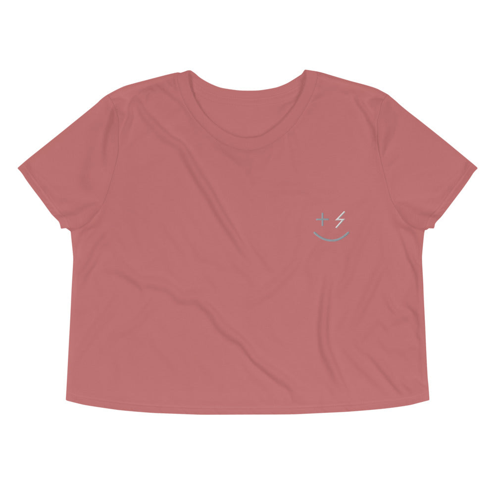 Smiley Women's Crop Tee - +Positive People Posse+