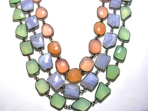 Faceted Chalcedony Trio ($750 each)