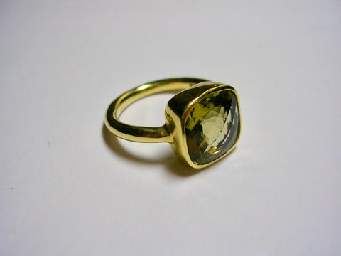 Whiskey Citrine Ring