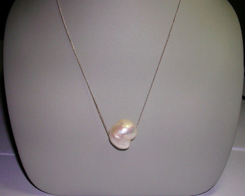 Heart Shaped Fresh Water Pearl Necklace