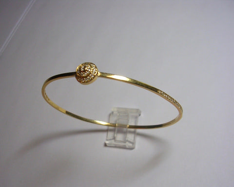 Bangle Bracelet With Diamond Snail Motif