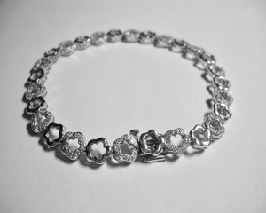 Open Flower Diamond Bracelet