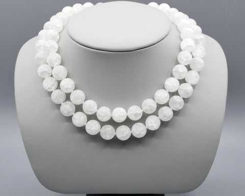 Crushed Crystal Bead Necklace