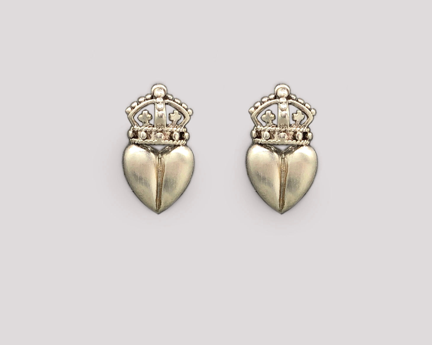 Royal Crown Heart Earrings
