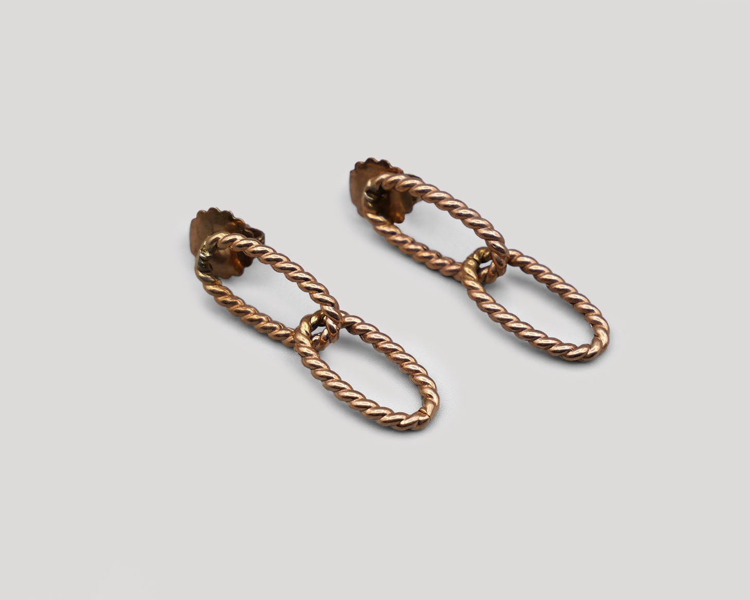 Double Twist Link Earrings