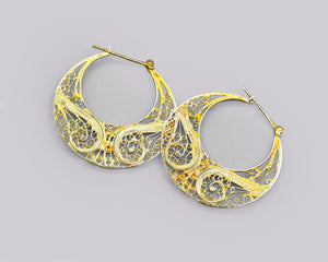 Filigree Flat Hoops