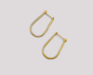 Say It In Gold - Horseshoe Hoops