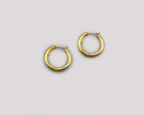 Striated Medium Hoops