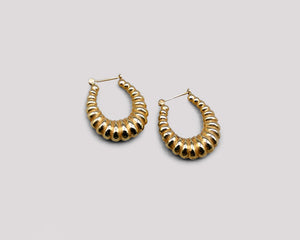 Graduated Scalloped Hoops