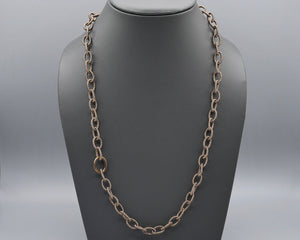 Silk Link Necklace - Metallic Espresso