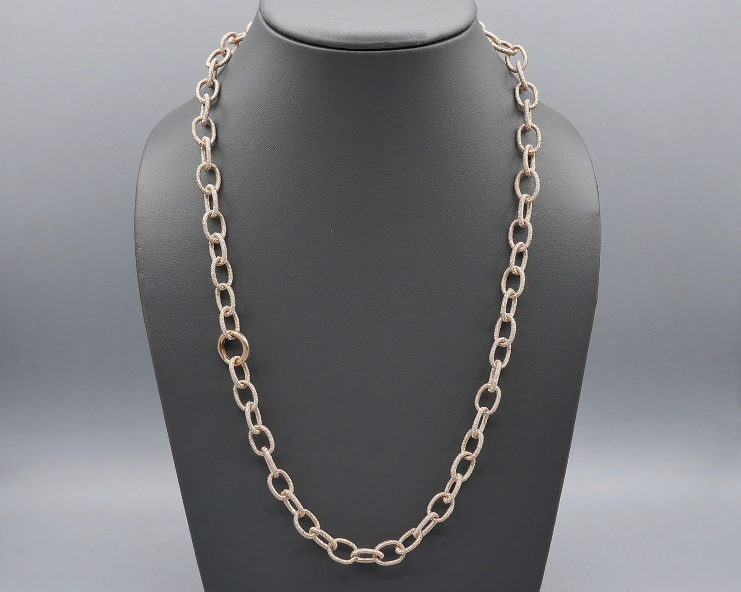 Silk Link Necklace - Metallic Rose Gold