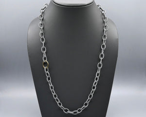 Silk Link Necklace - Metallic Gunmetal