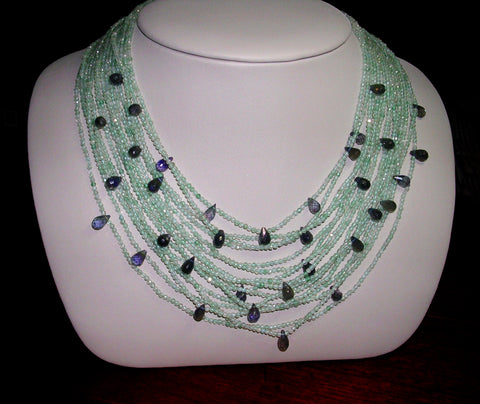 Aquamarine and Iolite  Bib