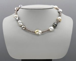 Asymmetrical South Sea Baroque Pearl Necklace
